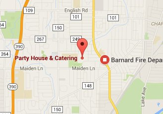 Barnard Restaurant Map